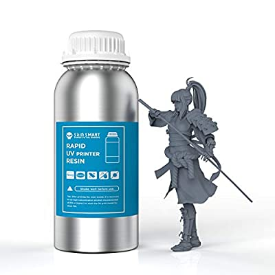 SainSmart Gray 1KG Rapid UV 405nm 3D Printer Resin for 3D LCD Printing, General Purpose Photopolymer Curing Resin
