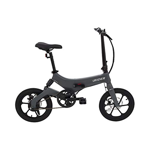 IWATMOTION Bicicleta Eléctrica Plegable iRider Gris (Gris)
