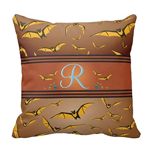 Sccarlettly Creepy Halloween Spuk Flying Fledermäuse Kissen Casual Chic Simplicity Mode Bequem Chic Täglich Gebrauch (Color : Colour, Size : Size)