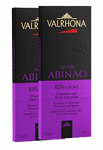 Valrhona Gourmet Dark Chocolate Bars 85%, 2 bars