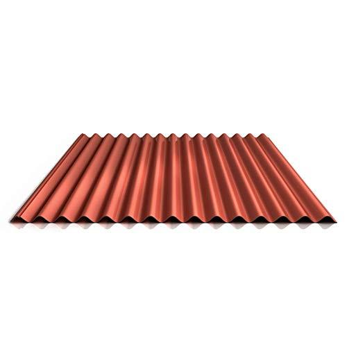 Wellblech | Profilblech | Dachblech | Profil PS18/1064CR | Material Stahl | Stärke 0,63 mm | Beschichtung 25 µm | Farbe Kupferbraun