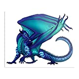 sygmos of Tsunami Dragon Wings Fire Seawing Impressive Posters for Room Decoration Printed with The Latest Modern Technology on semi-Glossy Paper Background