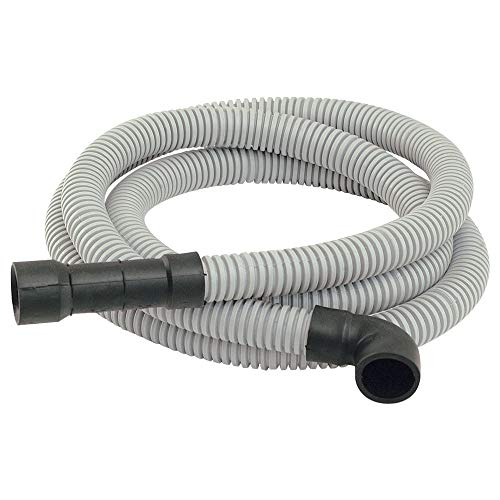 Eastman 91218 Universal-Fit Corrugated Dishwasher Discharge Hose, 8 Ft Length, Gray