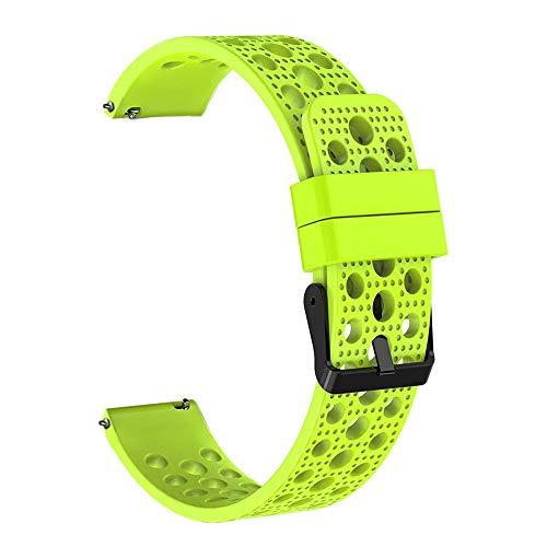Baohooya Correa de Reloj para Samsung Gear S3 Frontier Classic 22mm - Silicona Deportiva Moda Correa Pulsera - Repuesto Banda de Reloj Watch Band Accesorios para Hombre Mujer