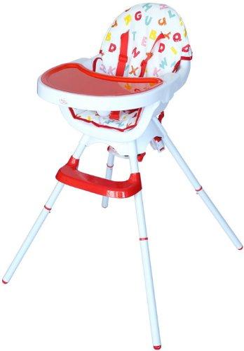 Bebe Style Deluxe 3-in-1-kinderstoel, modern, inklapbaar, omvormd, junior stoel plus booster, rood