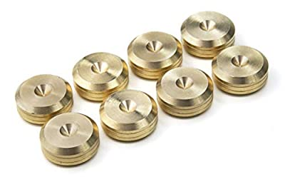 PrecisionGeek - CNC Solid BRASS Speaker spike pads shoes feet 20mm DIA - Set of 8 pieces by MAAD Precision Engineering Ltd