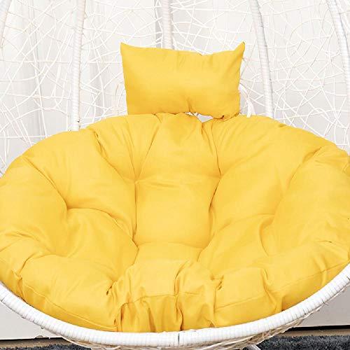 Oscilación del cojín de la silla, extra grande de la cesta colgante Huevo Nido Cojín de asiento con almohadilla de la silla sola ronda cojín desprendible de Balcón Jardín,Type 7- 120cm in diameter