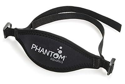 Phantom Aquatics Scuba Snorkeling Adjustable Neoprene Mask Strap, Black