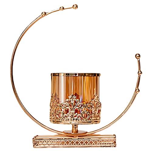 YZERTLH Aleación Candlestick Romántico Cena Candlelight Cena Props Moderno Minimalista Casa Sala de Estar Luz Mesa de Lujo Decoración Adornos (Color : A)