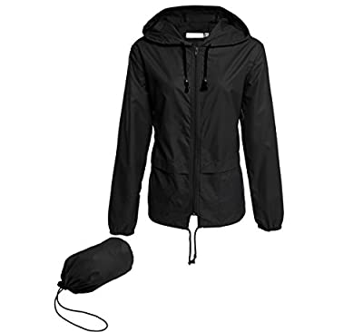 Hount Women Outdoor Waterproof Rain Jackets Lightweight Packable Raincoats with Hood