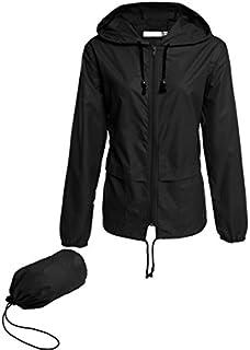 Hount Women's Lightweight Hooded Raincoat Waterproof...