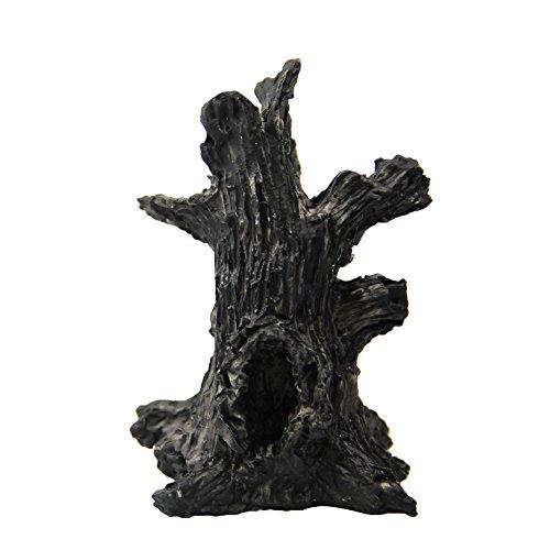 Demarkt Miniatur Landschaft Baumstumpf für Garten Miniatur Deko Schwarz Höhe von etwa 5cm