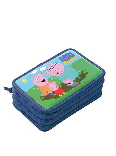 Peppa Pig - Trousse Stylo Ecole - Bleu