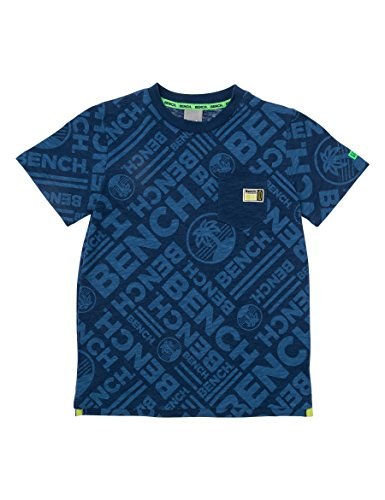 Bench Jungen AOP Tee T-Shirt, Blau (Dark Navy Blue NY013), 152 (Herstellergröße: 11-12)
