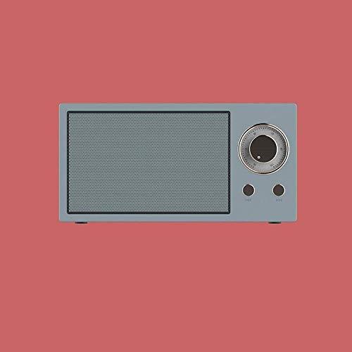 TIANYOU Amplificador de Altavoz Inteligente, Altavoces Inalámbricos Portátiles, Altavoz de Bluetooth Retro Nuevo Mini, Radio-White-White_150 * 45 * 75 Mm, con Voz de Alexa Y Bluetoo