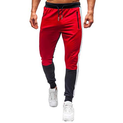 Luotuo Jogginghose Herren Mittlere Taille Gerade Jogginganzug Jogger Männer Trainingsanzug Jungen Slim Fit Laufen Sporthose Streetwear Cargo Lange Hose Freizeithose Sweatpants