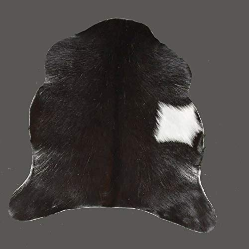 Alfombra de piel de cabra auténtica alfombra de piel para animales (25 x 22 pulgadas) – L51