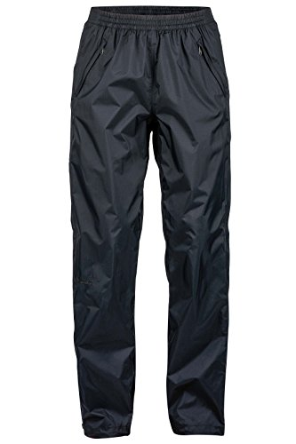 Marmot Women's PreCip Lightweight Waterproof Full-Zip Pant, Jet Black, Small