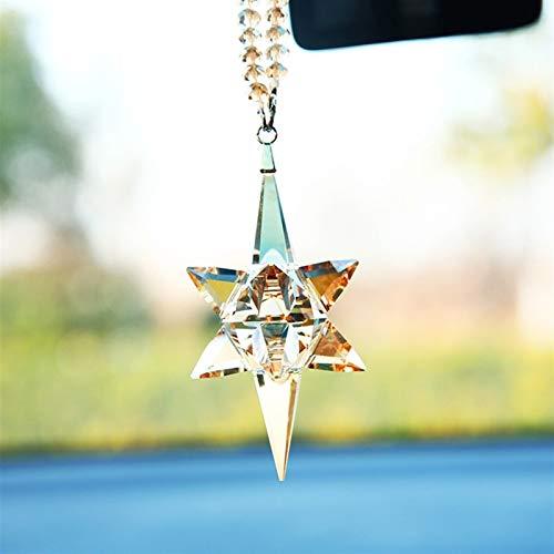21.5 * 3.5 cm Cristal Coche Pendiente Meteor Hammer Exquisito Pendiente DE LA DECURACIÓN Hombres y Mujeres creativos Suministros de Interior (Color Name : Colorful)