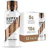 Kitu Super Coffee, Iced Keto Coffee (0g Added Sugar, 10g Protein, 70 Calories) [Hazelnut] 12 Fl Oz, 12 Pack | Iced Coffee, Protein Coffee, Coffee Drinks - LactoseFree, SoyFree, GlutenFree