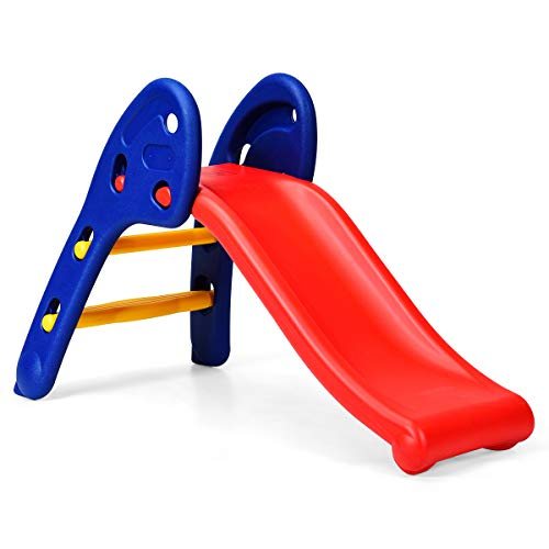 GLACER Toddler Slide, Sturdy Folding Baby Slide, Playground Slipping Slide Climber for Indoor and Outdoors Use, Plastic Kids Slide First Slide