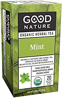 Good Nature Organic Mint Tea, 20 tea bags
