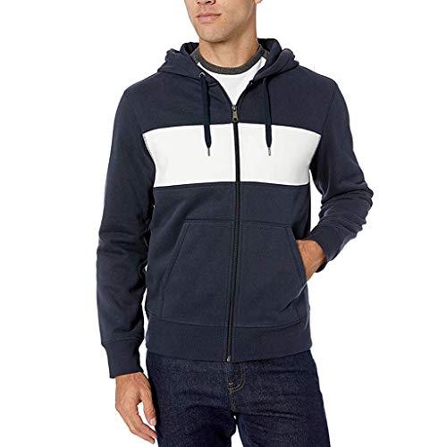 Homme Veste à Capuche, Overmal Sports et Loisirs Jacket Automne Hiver Manches Longues Sweats à Capuche Zipper Slim Hoodies Manteau Survêtements pour Hommes Sweat-Shirts Sportswear