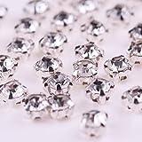 100 piezas de piedras/diamantes de imitación de cristal, diamantes de imitación cosidos de vidrio para ropa, coser diamantes de imitación en la ropa, diamantes de imitación de espalda plana