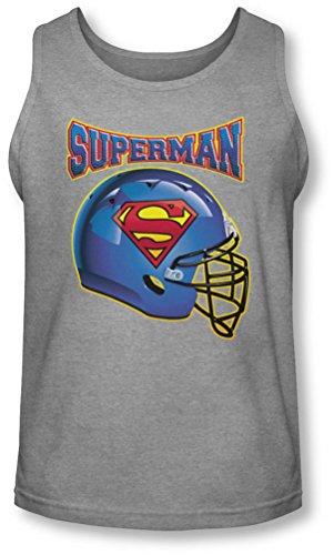 Superman - - Casque Tank-Top pour hommes, Large, Heather