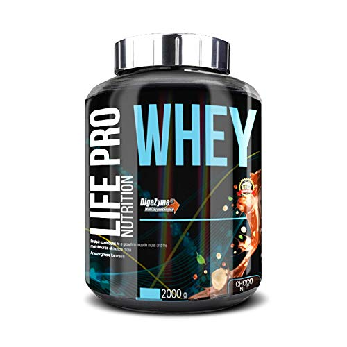 Life Pro Whey 2Kg | Suplemento Deportivo, 78% de Proteína de Concentrado de Suero, Protege Tejidos, Anticatabolismo, Crecimiento Muscular y Facilita Períodos de Recuperación, Sabor Choco Nuts