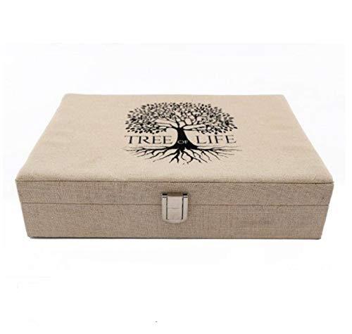 SIL Boîte à bijoux - Arbre de vie - Plusieurs compartiments