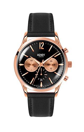 Henry London Reloj Analógico para Unisex de Cuarzo con Correa en Cuero 5018479078180
