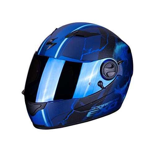 Scorpion Unisex– Erwachsene NC Motorrad Helm, Blau, L