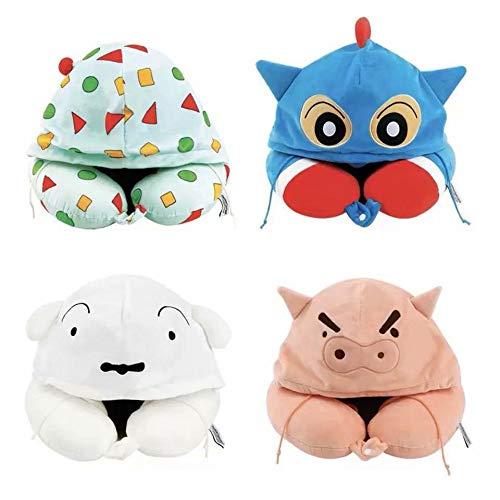 HOSD Cartoon Hooded U-Shaped Pillow Neck Pillow travel U-Shaped Pillow