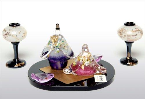 ガラス 雛人形 FF-12112312 雛絵巻 桜セット 親王飾り コンパクト きれい FUSION FACTORY