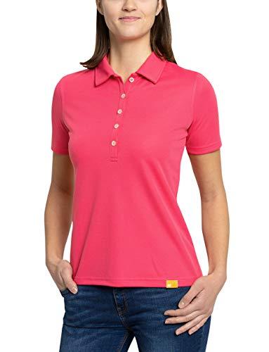iQ-UV Damen Sonnenschutz Polo Shirt, Raspberry, L