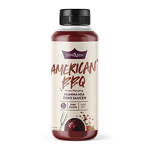 GymQueen Mamma Mia Zero Sauce, kalorienarm, ohne Fett & ohne Zucker, zum Verfeinern von Gerichten oder als Salat-Dressing, vegetarisch, glutenfrei, laktosefrei, Amercian BBQ