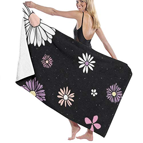 SGIMWPOM Microfiber Beach Towel Best Floral line Printed Bath Towel Lightweight Large Beach Towel Ultra Absorbent Bath Towel Bath Sheet for Beach/Home/Spa/Pool/Gym/Travel