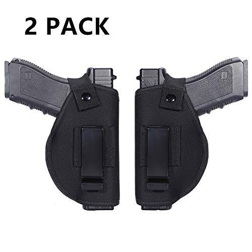 Anjilu 2 Pack Holster Universal Concealed Carry Holster Carry Inside or Outside The Waistband for Right and Left Hand Draw Fits Subcompact to Large...