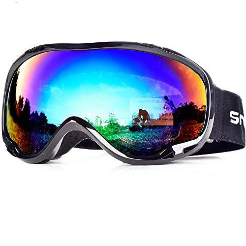 Ski-Schneebrille mit OTG Snowboard Dual Layers Linse Rahmenlos Wechselglas 100% UV400 für Männer und Frauen