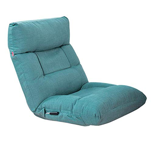 YLCJ Lazy Couch Pad Single Folding Chair Bed Armchair Window and Chair Bean Bag Chair-Green