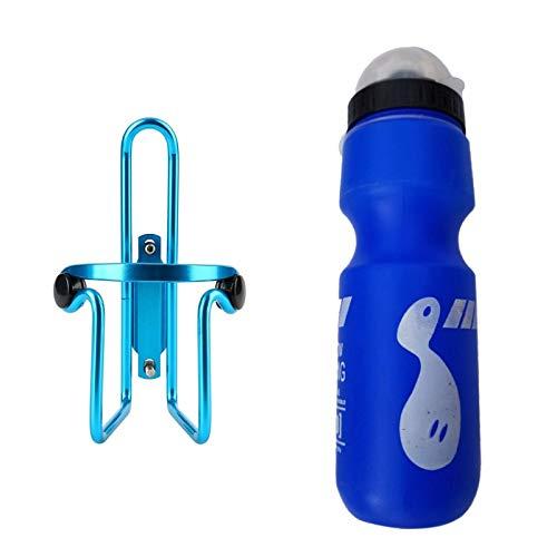 PPKZY Bicicleta Bicicleta Bicicleta Jaula aleación de Aluminio Botella de Botella Jaula Jaula Bicicleta Bebida Titular Agua Titular Accesorios (Color : Blue)