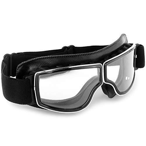 Motorcycle Goggles Vintage Anti Fog Pilot Glasses Dustproof ATV Off Road Motorbike Helmet Eyewear...