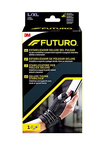Futuro Tutore Stabilizzatore Per Pollice Destro/Sinistro, L/Xl, Pollice: 6.3 - 7.6 Cm, Polso: 17.7 - 23.0 Cm, Dispositivo Medico Marcato Ce, Nero