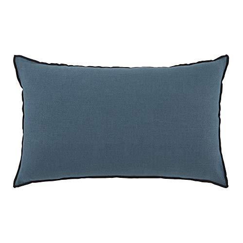 MADURA Carlina - Funda de Almohada (50 x 75 cm), Color Azul y Verde y burdón Negro