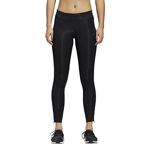 adidas Women's Running Response Long Tight, Black/Black, Small