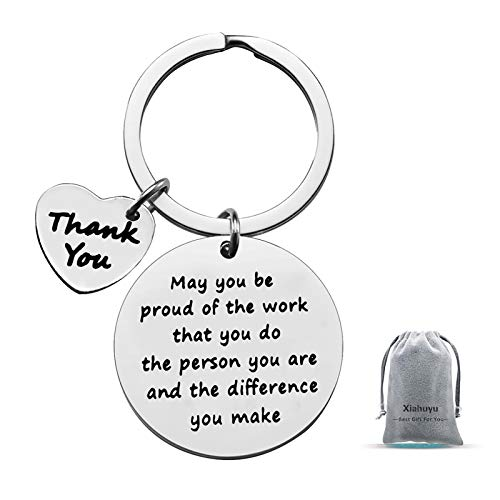 Thank You Gifts Appreciation Keychain Make a Difference Keychain Thank You Gifts for Employee Volunteer Social Worker Appreciation Gifts for Nurse Mentor Teacher Gifts