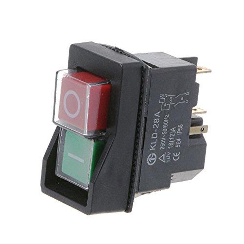 ruiruiNIE KLD-28A Interruptor magnético a Prueba de Agua Interruptores pulsadores a Prueba de explosión 220V IP55