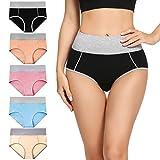 Molasus Womens Cotton Underwear Briefs High...