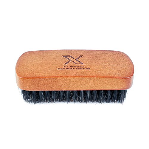 X All-Purpose Sneaker Cleaning Brush, 100% Boar Bristles - Soft Bristles for Delicate Shoe Materials!